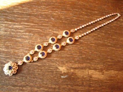 Kronjuwelen gesucht ? prächtiges saphir zirkonia diamant Collier 925er Silber