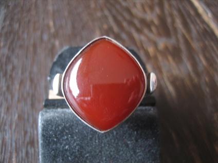 prächtiger moderner Designer Ring Carneol tolle Form 925er Silber RG 55 / 17, 5 mm
