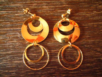 herrliche lange Statement Ohrringe Hänger Chandeliers 925er Silber vergoldet NEU - Vorschau 4