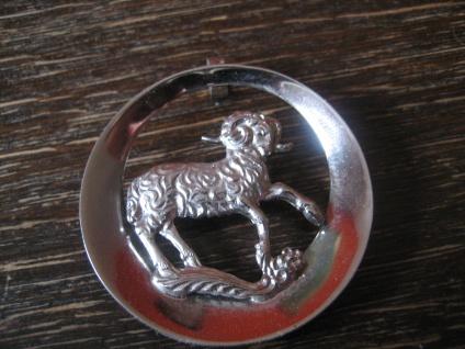 geschmackvoller Vintage Designer Anhänger Sternzeichen Widder 835er Silber 3, 5 c