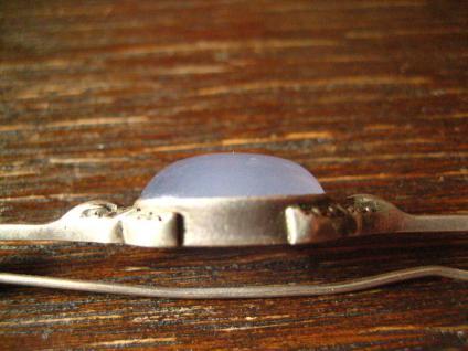 exklusive Art Deco Nadel Krawattennadel Brosche Chalzedon Chalcedon 830er Silber - Vorschau 5