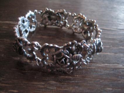 reizvolles Rosen Armband 925er Silber BAS Blachian Dirndl Tracht Rose Wiesn