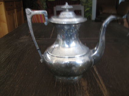 elegante antike Art Deco Teekanne Kaffeekanne Silberkanne silber pl Sheffield