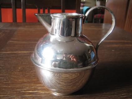schnuckelige kleine Karaffe Silberkanne Krug Silberkrug Kanne silber pl England
