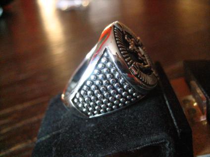 maritimer Herrenring Ring Kompass und Anker 925er Silber neu et Nox 20, 5 mm RG 65 - Vorschau 2