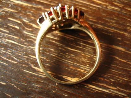 Feiner Art Deco Granat Ring 333er Gold böhmische Granate zeitlos nostalgisch - Vorschau 3