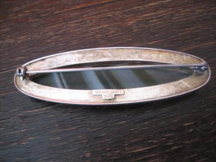 Art Deco Brosche 935er Silber grüner Achat Toni Riik Kunstgewerbliche Werkstätte - Vorschau 4