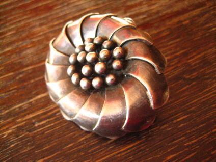 herrliche Art Deco Brosche Blume Blüte Margarite 835er Silber Handarbeit Unikat - Vorschau 2