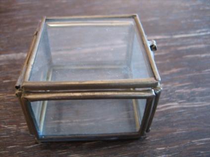 zauberhafte winzige Dose Döschen Schatulle 6 Seiten Glas verglast Glasdöschen - Vorschau 2