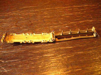 ausgefallene Biedermeier Schmuckschließe Gürtelschließe Schließe gold Perlmutt - Vorschau 4