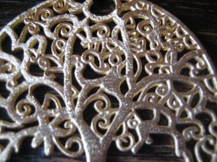 prächtiger großer Anhäger Lebensbaum Baum des Lebens 925er Silber vergoldet 4 cm - Vorschau 3