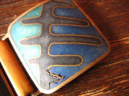 Vintage Designer Armband Emaille Stegemaille Perli Bunge Schibensky 3 cm breit - Vorschau 3