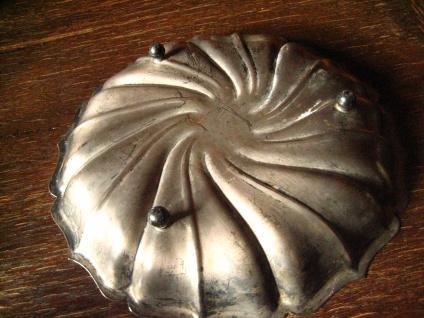 dekorative Schale Anbietschale Silberschale auf Füßen tolle Form silber pl 25 cm - Vorschau 2