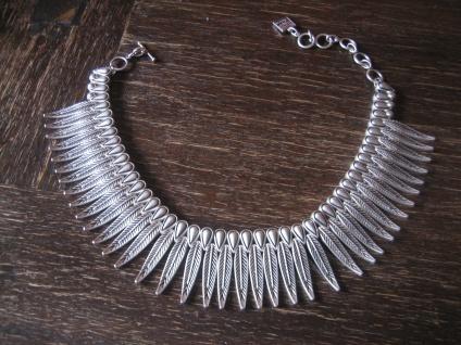 Boho Ethno Statement Collier Kette Kragenkette Designer Leonardi Arte silber