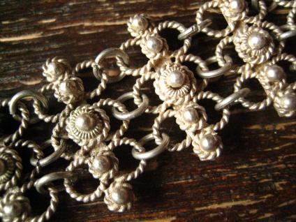 reizendes Trachten Dirndl Armband Solje Hochzeitsschmuck silber Handarbeit 2 cm - Vorschau 3