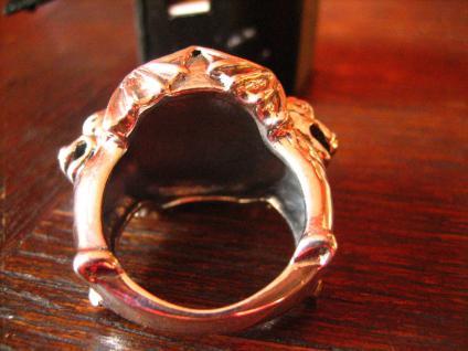mächtiger Biker Ring 2 Drachen Drache Spinne 925er Silber RG 59 Gothic Unikat - Vorschau 4
