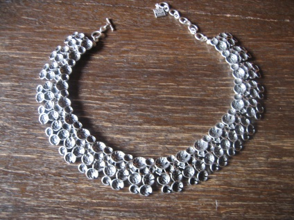 extravagantes Boho Statement Collier Kette Designer Leonardi Arte alt - silber