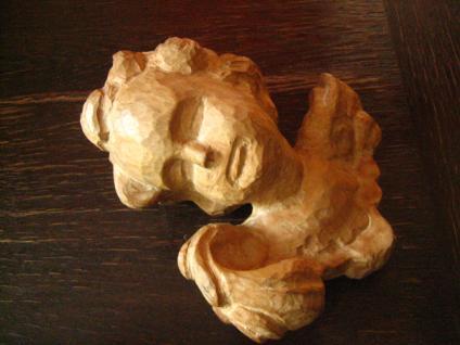 großes prächtiges Paar Engelköpfe 2 Engel Putto Köpfe Holz geschnitzt Handarbeit - Vorschau 2