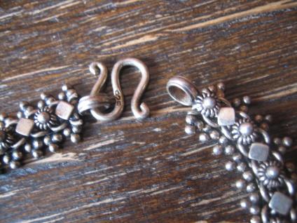 bezauberndes Trachten Dirndl Armband Solje Hochzeitsschmuck 925er Silber 18 cm - Vorschau 3
