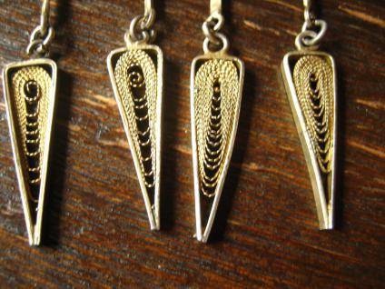 prächtiges Art Deco Collier feine Filigranarbeit 800er Silber gold Handarbeit - Vorschau 3