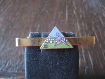 vintage Sport Krawattennadel Krawattenklemme Tennis Emaille gold