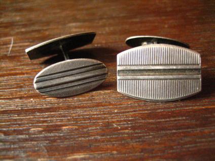 zeitlos elegante Art Deco Manschettenknöpfe 835er Silber klassisch und edel - Vorschau 2