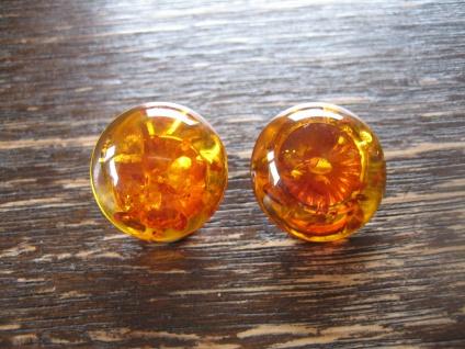 zeitlose Bernstein Ohrringe Clips Ohrclips 20 mm vintage Earclips Amber Earrings