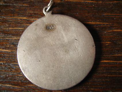 antiker 800er Silber Anhänger Wappen Adelswappen Emaille aufwändig emailliert - Vorschau 2