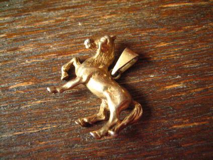 süßer Anhänger Pferd Pony Pferdchen 925er Silber gold Glücksbringer für Reiter - Vorschau 2