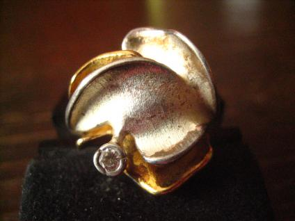 prächtiger Vintage Designer Ring Charisma Günthner GmbH sig. 925er Silber gold