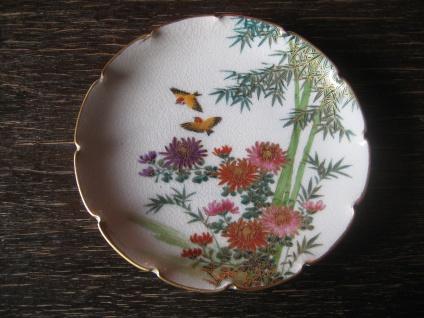 bezauberndes Porzellan Tellerchen Tellerchen Schälchen Soko Satsuma handbemalt