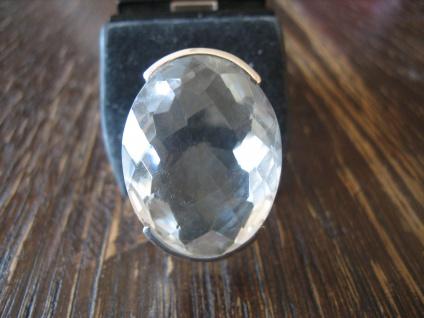 pompöser Statement Ring riesiger Bergkristall 925er Silber NEU Unikat jede Größe