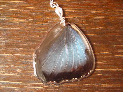 Schatz der Natur Anhänger Schmetterlingsflügel C 925er Silber Kette Eco Friendly