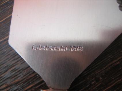 elegantes vintage Käsemesser mit Pick Griff aus Achat Edelstahl Klinge 18/8 - Vorschau 3