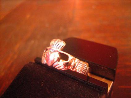 feiner Claddagh Ring Herz Krone Hände Hochzeitsring 925er Silber RG 60 et Nox - Vorschau 2