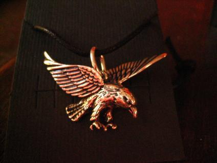 prächtiger Anhänger fliegender Adler Flying Eagle auf Beutefang 925er Silber neu