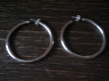 edle Klassiker - große Silbercreolen Creolen Ohrringe Stecker 925er Silber NEU