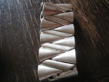 edler cleaner Statement Armreif Armband Designer Leonardi Arte silber tolle Form