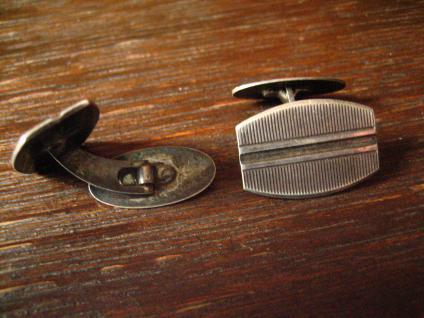 zeitlos elegante Art Deco Manschettenknöpfe 835er Silber klassisch und edel - Vorschau 3