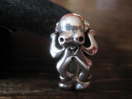 prächtiger maritimer Ring Krake Oktopus Tintenfisch 925er Silber für Piraten - Vorschau 1