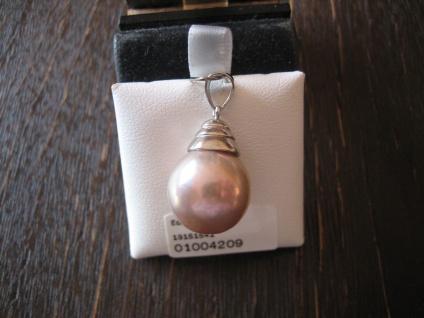 edler Designer Anhänger 925er Silber riesige Perle rosa Naturfarbe 14-15 mm AAAA