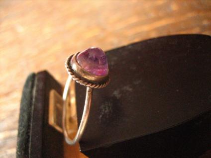 zartes antikes Kinder Schmuckset Ring Ohrringe 800er / 925er Silber Amethyst - Vorschau 4