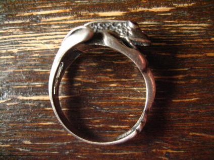 bezaubernder Froschring Frosch Kröte Unke Ring 925er Silber plastisch Krafttier - Vorschau 3