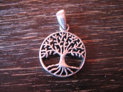 zierlicher Anhäger Charm Lebensbaum Baum des Lebens 925er Silber 2 cm für Kinder