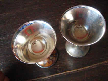 Candellight Dinner for Two 2 Stück Paar edle Silberkelche Sektschalen silber pl - Vorschau 2