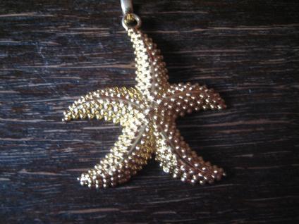 geschmackvoller großer maritimer Anhänger Seestern 925er Silber vergoldet NEU