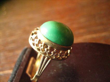 herrlicher antiker Türkisring Ring Türkis 333er Gold wunderschön verziert