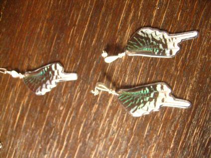 Schatz der Natur Anhänger Schmetterlingsflügel G 925er Silber Kette Eco Friendly - Vorschau 3