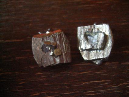 prächtige vintage Designer Manschettenknöpfe Pyrit naturbelassen 835er Silber