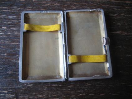 elegantes Art Deco Zigarettenetui Zigarilloetui 800er Silber zierlich für Damen - Vorschau 3